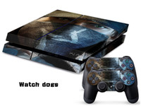 PS4   Vinyl Decal Skin Stickers Wrap For PS4 Play Station 4 Console+ Controllers-Watch Dogs-0009