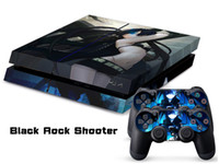 PS4   Vinyl Decal Skin Stickers Wrap For PS4 Play Station 4 Console+ Controllers-Black Rock Shooter 4-0011