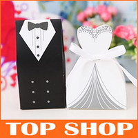 Wholesale Wedding Candy Bags Paper White And Black European And American Design Wedding Favor Boxes HQ0003