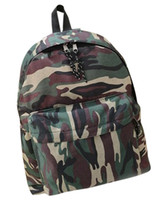 Wholesale Fashion Hunter Green Vertical Shape Camouflage Canvas Women s Backpack u5 u22