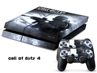 PS4   Vinyl Decal Skin Stickers Wrap For PS4 Play Station 4 Console+ Controllers-Call of Duty 4-0013