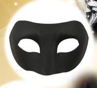 Wholesale Eco friendly pc Black Zorro pulp mask
