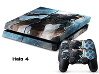 PS4   Vinyl Decal Skin Stickers Wrap For PS4 Play Station 4 Console+ Controllers-Halo 4-0014