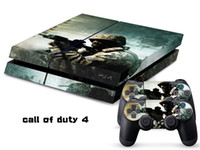 PS4   Vinyl Decal Skin Stickers Wrap For PS4 Play Station 4 Console+ Controllers-Call of Duty 4-0015