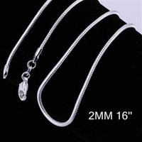 silver plated chain - sterling silver plated fashion mm snake chain necklace jewelry C010