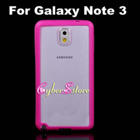 For Samsung TPU  Clear Crystal Transparent Hard PC Back Case With TPU Bumper Frame Cover for Samsung Galaxy Note 3 III N9000