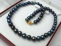 Wholesale Charming MM Black Tahitian Pearl Necklace quot