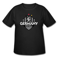 Wholesale Unique Fashion Style Ladies Plus Size t Shirts Germany Football Soccer For Football World Cup