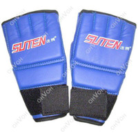 Wholesale S5Q Cool MMA Muay Thai Training Punching Bag Half Mitts Sparring Boxing Gloves AAACUX