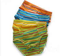 Wholesale Boys Underwear Kids Panties Stripe Cotton Solid Children Briefs Underpants Shorts Pants Colorful