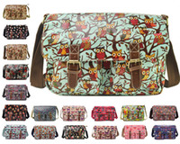 Wholesale high quality Ladies Oilcloth Floral Cross Body Messenger Bag Satchel Bag Shoulder School Bags
