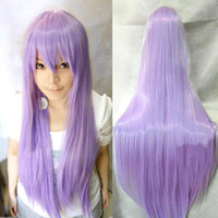 Wholesale S5Q Women Girls Long Full Hair Straight Wigs For Anime Cosplay Costume Party AAACMK