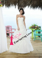 Cheap Free Shipping New A line Sweetheart Court Train Organza 2014 Wedding Dress Pin Up Skirt Beach Beading Bridal Gown vestidos de novia