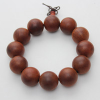 Beaded, Strands Asian & East Indian Unisex New Arrivals Limited Precious Proper Antiquity Red Camwood Wooden (12 pcs 20 mm) beads Beaded Strand Bangle Bracelet Bracelets