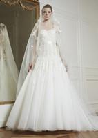 A-Line corset bodice wedding dress - Newest Luxurious Sweetheart Corset Bodice Wedding Dress Zuhair Murad Wedding Gowns Dress Organza Sleeveless
