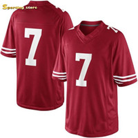 Wholesale 2014 Super Bowl Quarterback Colin Kaepernick Red Game Jersey High Quality American Football Jerseys Top Sellers Football Apparel