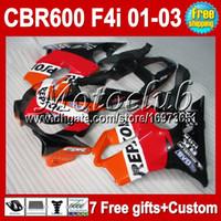 Wholesale 7gifts For HONDA MC72 CBR600FS FS Repsol CBR600 F4i red black CBR F4i MC166 CBR600F4i F4i ABS Fairing