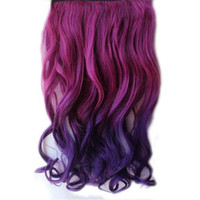 Wholesale S5Q Rainbow Women s Hair Wigs Extensi Wavy Curl Synthetic On AAACLV