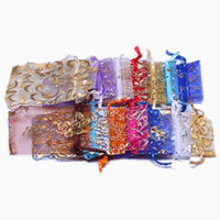 Wholesale Organza Candy Bags Mix Flower Color Jewelry Bag Gift Pouches Sheer Christmas Wedding Favor Packages XES2