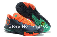 Mid Cut Men Spring and Fall 2014 HOT!!! Kevin Durant KD VI 6 basketball running Shoes Low, KD 6 VI Athletic Shoes Via