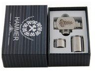 Electronic Cigarette Set Series  Factory supply-Hammer E-Pipe e cig Mod Kit Mechanical Air Contral with 2 Extension Tubes 18350 18500 18650mAh for CE4 5 Vivi Nova protank
