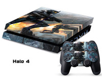 PS4   Vinyl Decal Skin Stickers Wrap For PS4 Play Station 4 Console+ Controllers-Halo 4-0020