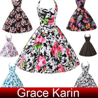Grace Karin 2014 New Vintage Flower Print Cotton Dress Casua...