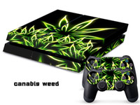 PS4   Vinyl Decal Skin Stickers Wrap For PS4 Play Station 4 Console+ Controllers-Canabis Weeds -0027