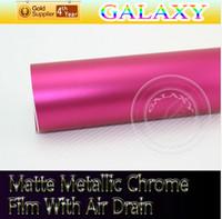 Wholesale Car Wrap Matte Metallic Chrome Vinyl With Air Drain cmX20 Meters Matte Pearl Vinyl Film Sell With Free Gift