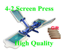 Wholesale with GIFT manual color station silk screen printing machine t shirt printer DIY press