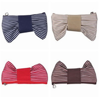 Wholesale Fashion Striped Cosmetic Bag Coin Purse Pouch Sunglasses Makeup Brushes Keys Storage Bag Pencil Bag Pen Holder Stationery Bags quot x4 quot