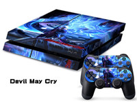 PS4   Vinyl Decal Skin Stickers Wrap For PS4 Play Station 4 Console+ Controllers-Devil May Cry-0030