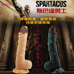 Wholesale big size silicone suction dildo horny fake penis sex toy big size Inches Natural Dildo fake penis Sex Toy Skin Color Adult Product