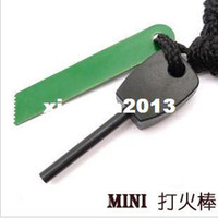 Wholesale Promotion Diameter mm Magnesium Flint Fire Starter Kit Survival Outdoor For