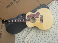 Wholesale 2014 New China Guitar factory top new arrival natural acoustic electric guitar AAA maple back with fishman EQ