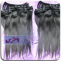 Wholesale Clip in hair extensions for black women full ends Brazilian human hair extension