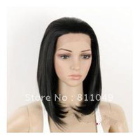 African-American Wigs Synthetic Hair Wig,Half Wig Free Shipping New Stylish Heat Resistant Black Long Straight Lady's Fashion Sexy Party Cosplay Synthetic Hair Wig Wigs