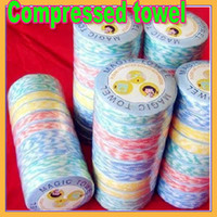 Wholesale AAAAA Magic Towels Economical Mini Travel Compressed Towel Beach Towel Hand Towel Bathroom Products