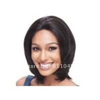 Wholesale Freeshipping BestSeller New Stylish Long Straight Dark Brown Cosplay Party Hair Lady s Fashion Synthetic Wig Wigs