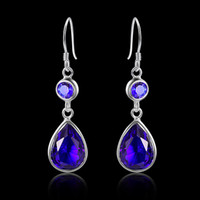 Wholesale 925 sterling silver rhinestone women fashion earring E0363