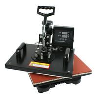 Wholesale Well sold in1 Digital Transfer Sublimation T Shirt Mug Hat Plate Cap Heat Press Machine