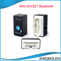 Wholesale New Arrival Super Mini Bluetooth ELM327 ELM OBD2 OBD II CAN BUS Diagnostic Scanner With Power Switch for Android Symbian Windows