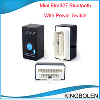 Best Wholesale price Super mini elm327 elm 327 bluetooth OBD2 OBDII OBD II Can bus can-bus car code reader works on android elm327 interface