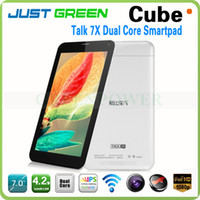 Wholesale 2014 New Arrival Inch Cube Dual Core G Tablet Phone Cube Talk X Android GB Ram GB Rom Mid GPS Bluetooth Dual Sim Slot