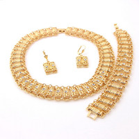 Wholesale 2014 Hot Sale fashion New Arrival Costume Women wedding Golden k Gold African Jewelry Set