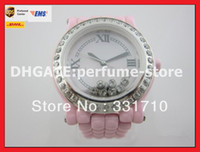 Wholesale Factory Supplier AAA Top Quality Mens Watch LuxuryLadies Swiss Quartz Happy Sport Ceramic Floating Diamonds Date pink strap luxury Women s