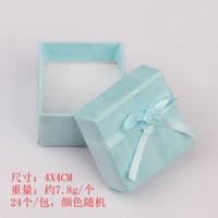 al por mayor regalo de exhibición de la joyería-4.0cm * 4.0cm caja de embalaje de la moda pantalla cajas de regalo de la joyería, caja colgante, pendientes caja de colores al azar 72pcs / lot