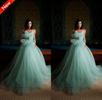 Wholesale 2014 Sky Blue Strapless Court Train Beaded Ruffles Ball Gown Custom Made Elegant Girls Pageant Gown Amazing Puffy Party Evening Dresses
