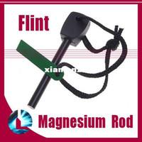 Wholesale 50pcs outdoor camping hiking Survival mini Magnesium rod stick Flint Stone Fire Starter Big size