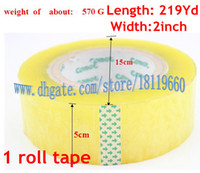 Wholesale 2 quot x yard roll Carton Box Sealing Packaging transparent Packing Tape adhesive tape packing tape wrapper for packing Strapping band